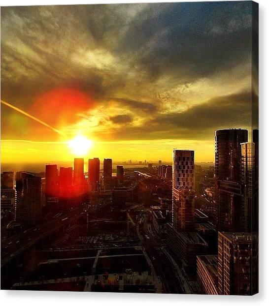 Toronto Skyline Canvas Print - Instagram Photo by Laura De Abreu
