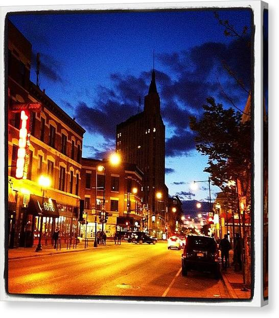 Street Scenes Canvas Print - Wicker Park, Chicago by Thor Eric Salo