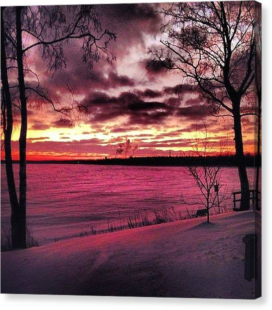 Lake Sunrises Canvas Print - Instagram Photo by Jon Massey