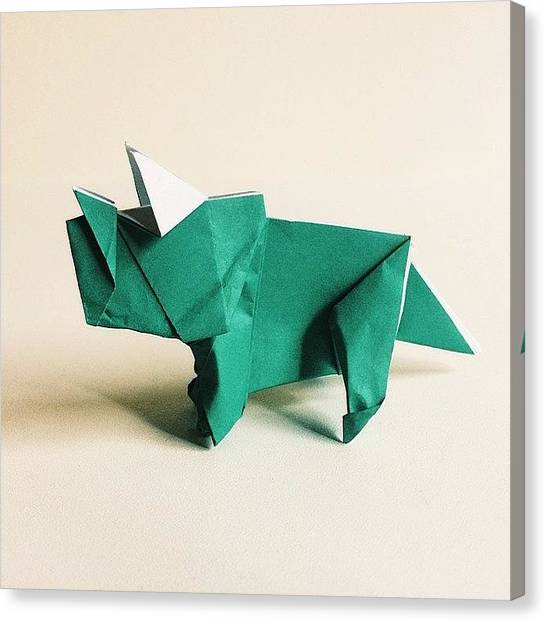 Triceratops Canvas Print - 99/365 - Baby Triceratops - Designed By by Ross Symons