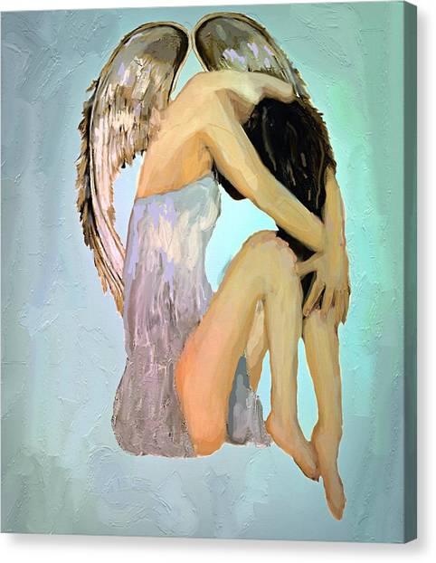 A Angels Tears Canvas Print by Iris Piraino