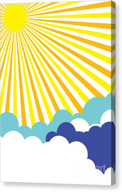 Sun Canvas Print - A Background Design Suitable For A by Lukas101