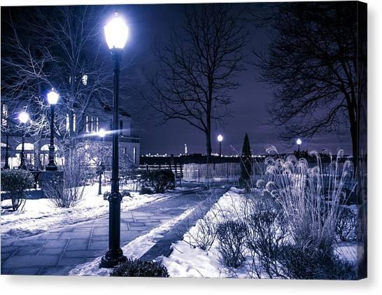 A Battery Park Winter Canvas Print
