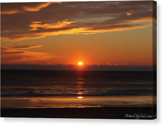 A Beach Life Sunrise Canvas Print