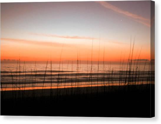 A Beachwork Orange Canvas Print
