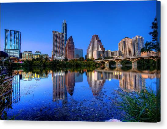 Austin Texas Canvas Print - A Beautiful Austin Evening by Dave Files