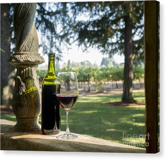 Cognac Canvas Print - A Beautiful Day In Napa by Jon Neidert