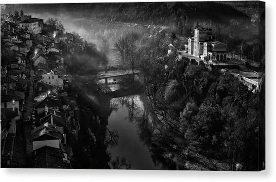 Town Canvas Print - A Beautiful Morning In Veliko Tarnovo by Andrei Nicolas -