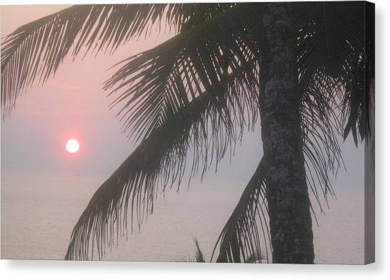 Fire Ball Canvas Print - A Beautiful Sunset by Ruby Ahluwalia