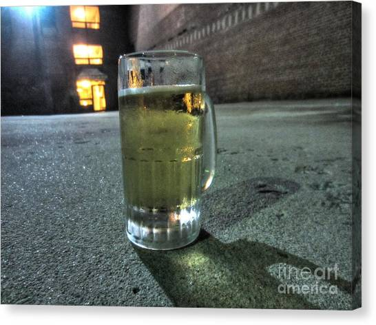 A Beer Mug In An Alley  Canvas Print