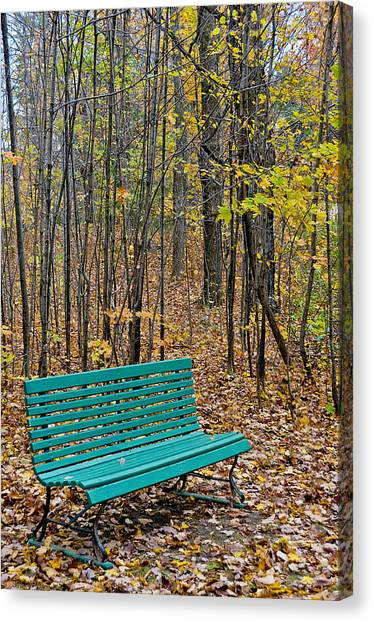 A Bench Nowhere... Canvas Print