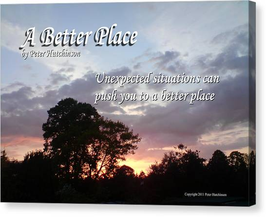 A Better Place Canvas Print