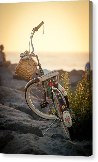 A Bike And Chi Canvas Print