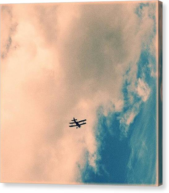 Biplane Canvas Print - A #biplane... #latergram #all_shots by Alexandra Cook