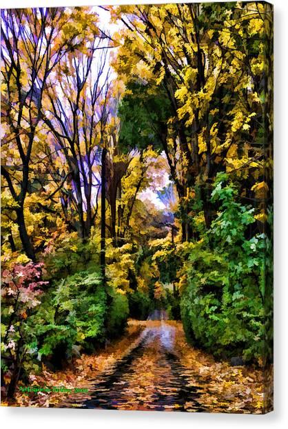 A Bit Of Autumn Canvas Print