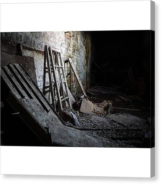 Factories Canvas Print - A Bit Of Urbexing Yesterday by Jenna Goodwin