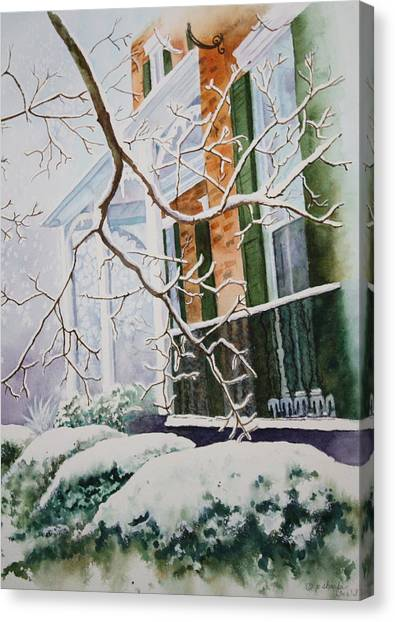 A Blanket Of Snow Canvas Print