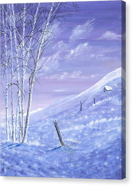 A Blue Winter Canvas Print