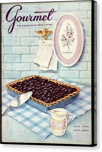 A Blueberry Tart Canvas Print
