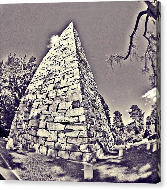 Bands Canvas Print - A #bnw #fisheye From #hollywoodcemetery by Clifford Drake