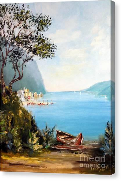 A Boat On The Beach Canvas Print