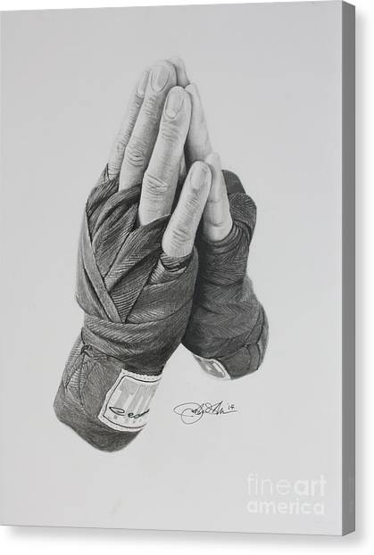 Mma Canvas Print - A Boxer's Prayer by Joshua Navarra