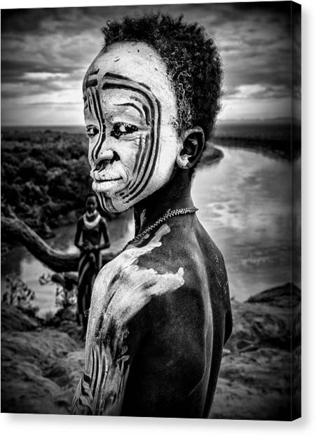 Boy Canvas Print - A Boy Of The Karo Tribe. Omo Valley (ethiopia). by Joxe Inazio Kuesta