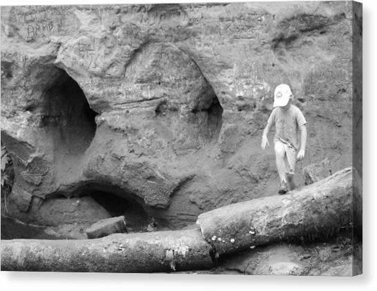 Limestone Caves Canvas Print - A Boys Playground by Christine Rivers