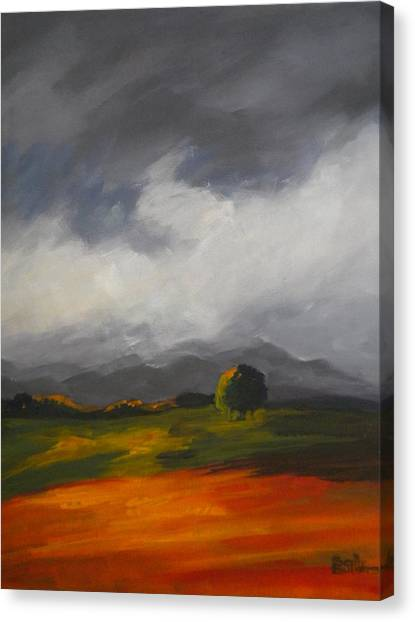 A Break In The Clouds Canvas Print by Sally Bullers