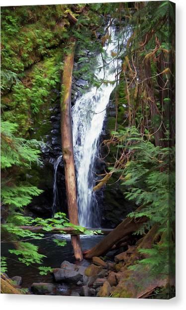 A Breathtaking Waterfall. Canvas Print
