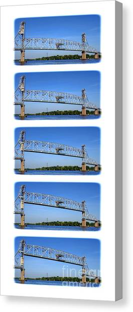 Roadway Canvas Print - A Bridge Opening by Olivier Le Queinec