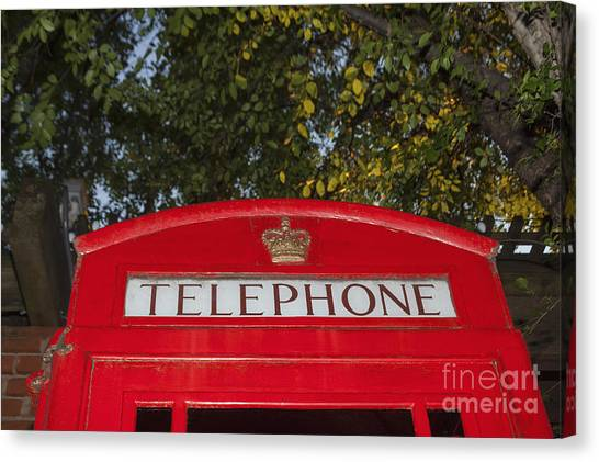 A British Phone Box Canvas Print