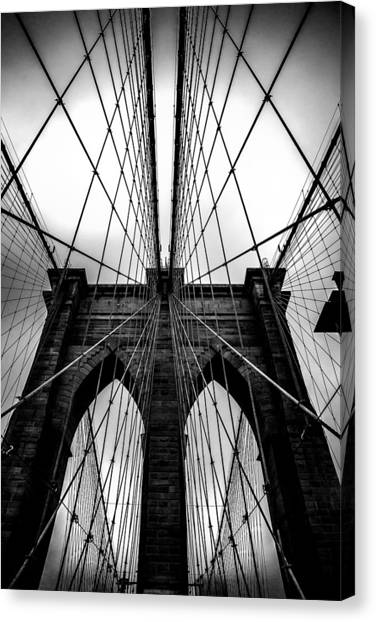 Bridge Canvas Print - A Brooklyn Perspective by Az Jackson