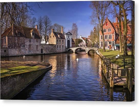 World Heritage Canvas Print - Blue Bruges by Carol Japp