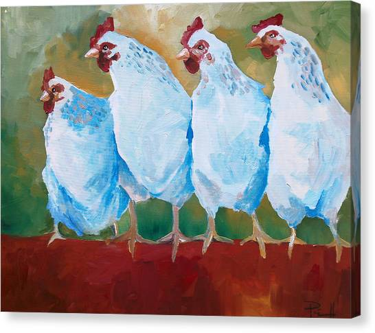 A Bunch Of Old Clucking Hens Canvas Print