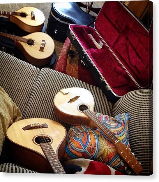 Mandolins Canvas Print - A Busy Afternoon And One Sold. #mandola by J Catherwood