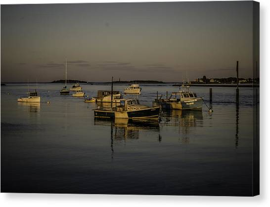 A Calm Evening At Camp Ellis Canvas Print by Jonathan Ramsdell