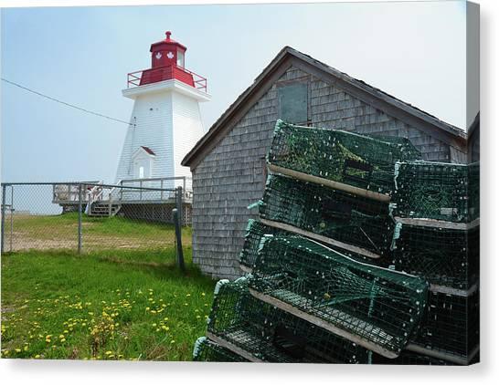 Cabot Trail Canvas Print - A Canadian Coastguard Lighthouse, Neils by Darlyne A. Murawski