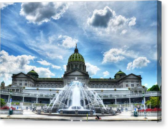 Canvas Print featuring the photograph A Capitol Day 2 by Mel Steinhauer