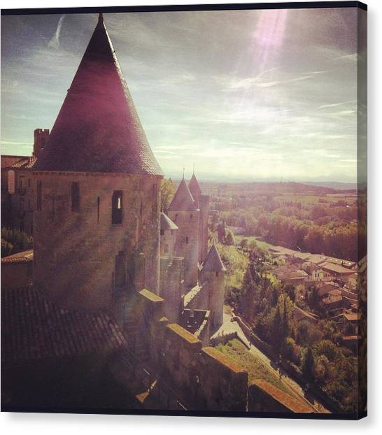 Harry Potter Canvas Print - A Castle In Carcassone by Avo Gavgavian