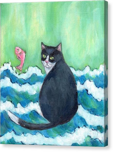 A Cat's Dream Interior Design Canvas Print