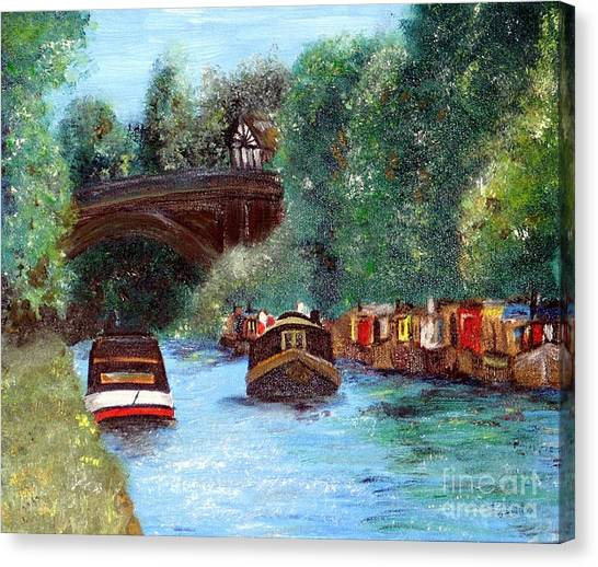 A Cheshire Canal Remembered Canvas Print