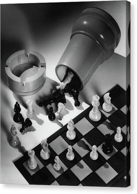A Chess Set Canvas Print