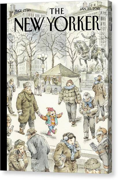 January Canvas Print - Winter Delight by John Cuneo