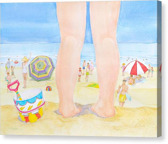 A Child Remembers The Beach Canvas Print