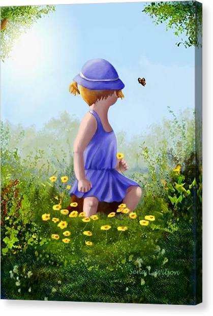 A Child's Thoughts Canvas Print
