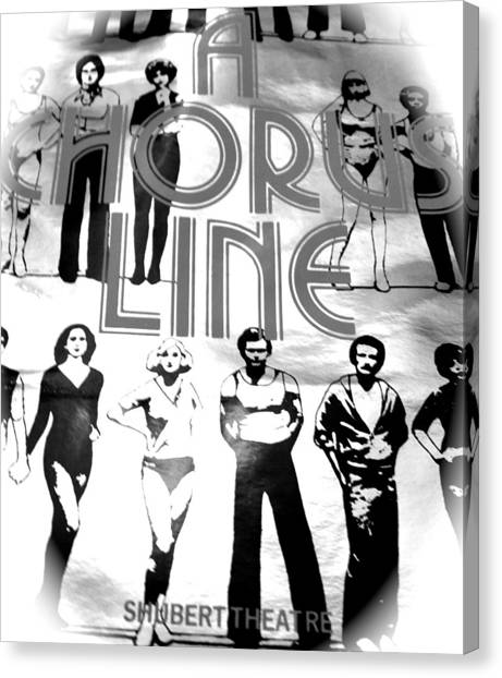 A Chorus Line Vintage Bw II Canvas Print by Toni Ryder