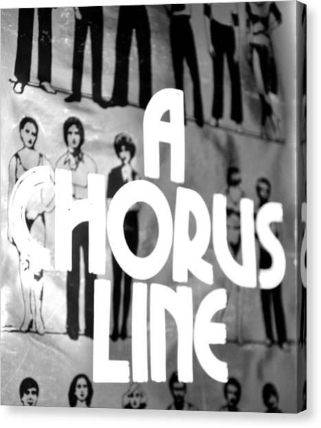 A Chorus Line Vintage Bw Canvas Print by Toni Ryder