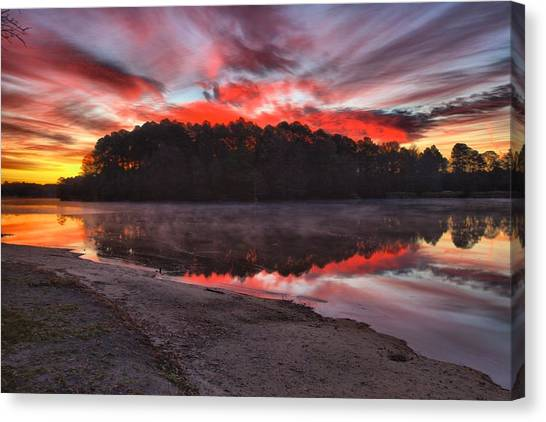A Christmas Eve Sunrise Canvas Print