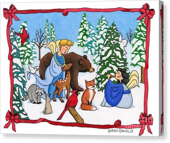 North Pole Canvas Print - A Christmas Scene 2 by Sarah Batalka